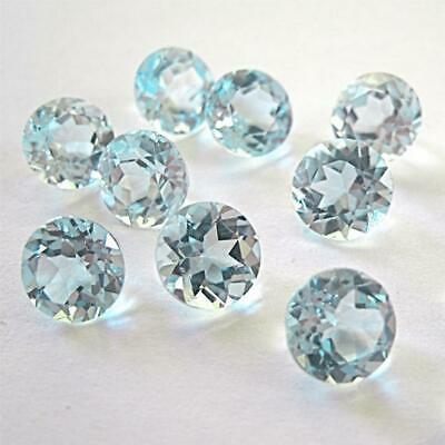 Wholesale Lot 6mm Round Facet Cut Natural Blue Topaz Loose Calibrated Gemstone