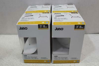 "Lot of 4 Juno 3"" LED Ultra-Thin Recessed Downlight Kits 258NJY"