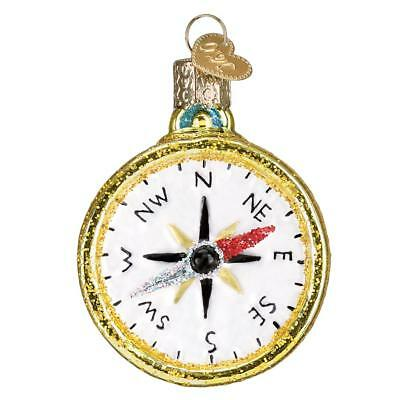 Compass Navigation Direction Nsew Old World Christmas Glass Ornament Nwt 36226