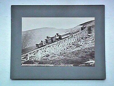 Jacobs Ladder Train Mt Washingtion NH Vintage Collectible Cabinet Card Photo