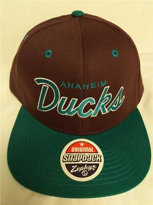 New Anaheim Mighty Ducks Mens Size OSFA Snapback Flatbrim Zephyr Cap Hat 715b4f54e9a6