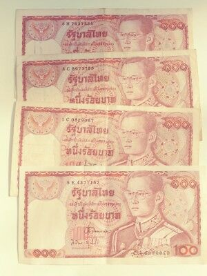 Thailand 100 Baht ND x 4 notes