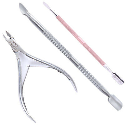 3Pcs/Set Pedicure Manicure Set Nail Cuticle Spoon Pusher Remover Nail Art Tool