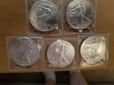 1oz Silver American Eagle lot of 5