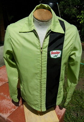 Vintage SINCLAIR Dino Windbreaker Jacket SMALL - Bright Nylon by Unitog
