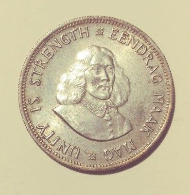 South Africa 1961 20 Cents - Silver Coin