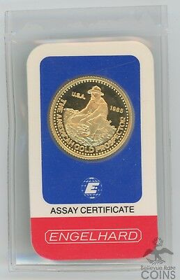 Hard to Find 1985 Engelhard Prospector 1/4 oz .9999 Gold in Original Assay Cert