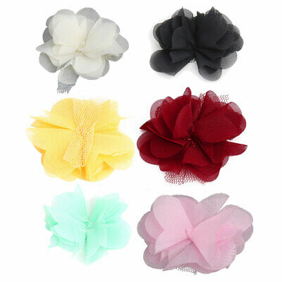 Household Clothing Fabric Artificial Handcraft Meshy Decorative Flower 20 PCS