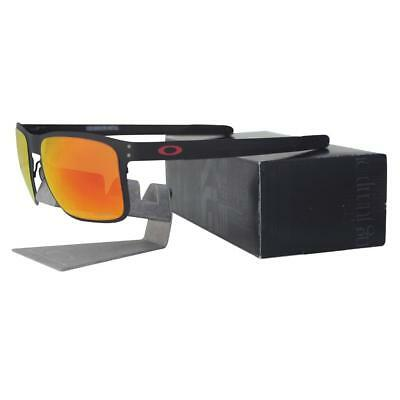 84cd6e9e52 Oakley OO 4123-1255 HOLBROOK METAL Matte Black Prizm Ruby Iridium Sunglasses