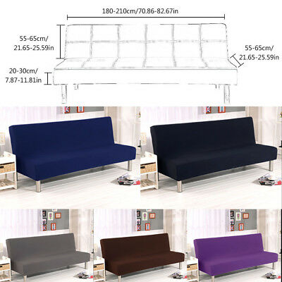 Admirable Folding Sofa Bed Cover Solid Color Armless Slipcover Bralicious Painted Fabric Chair Ideas Braliciousco