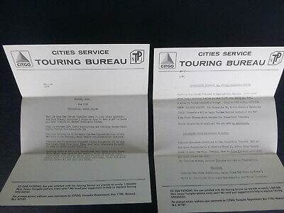 1966 Eastern Interstate Turnpike information letter  n/map Cities Service gas