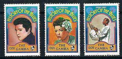 Gambia 1992 Blues Singers stamps from 3x MS SG 1279 MNH