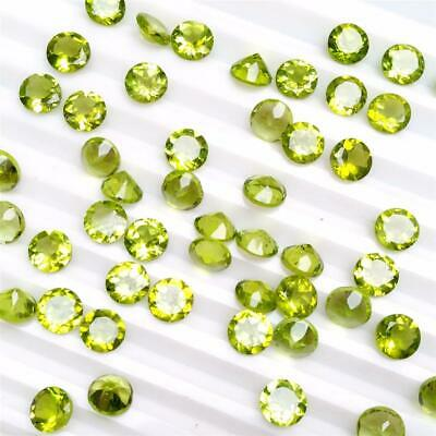 Wholesale Lot of 5mm Round Facet Cut Natural Peridot Loose Calibrated Gemstone