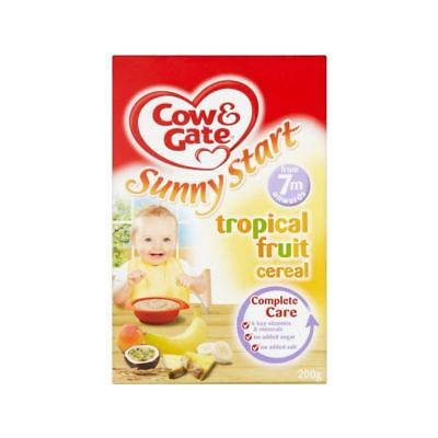 Cow & Gate Sunny Start Tropical Fruit Cereal 7mth+ (200g) - Pack of 2