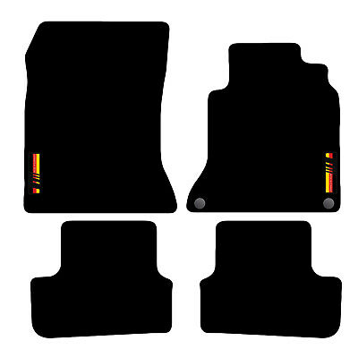 Tailored Carpet Car Floor Mats FOR Mercedes A-Class 2012 to 2018 with logo