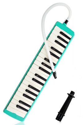 E07 37 Piano Keys Green Musical Instrument Melodica Pianica With Carrying Bag O