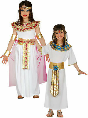 Girls Deluxe Egyptian Costume Childs Cleopatra Fancy Dress Kids Book Week Outfit