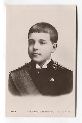 Dom Manuel II of Portugal as a boy - old royalty real photo postcard