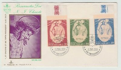 VATICAN FIRST DAY COVERS 1969 Resurrection 1964 Samitarians (2 items) #