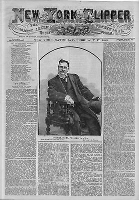 American Sporting And Theatrical Journal Boxing John Sullivan Baseball Bicycling