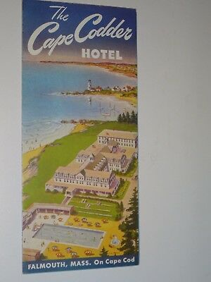 1940's Vintage Cape Cod The Cape Codder Hotel brochure booklet