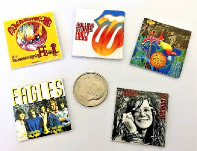"""Dollhouse Miniature Overstock Lot Sale - """"Record"""" Albums with """"Records"""" #15 1:12"""