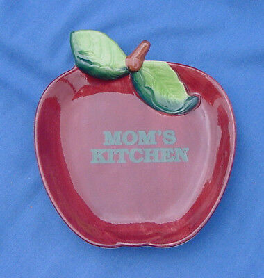 Vtg Papel Apple Shaped Spoon Rest/wall Hanging Mom's Kitchen