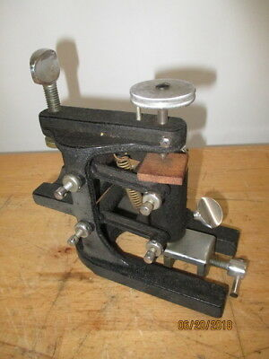 c1930s SPENCER LENS OPTICAL DEVICE MICROTOME CAST IRON SPRING LOADED MICROSCOPE