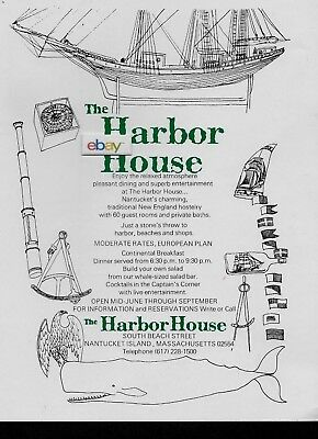 Harbor House Hotel South Beach St Nantucket Island,ma 1975 60 Rooms Ad