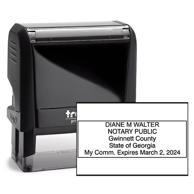 CUSTOM Seal Georgia Notary Public Stamp | Rectangle Trodat 4913 | (GA-NOTARY)