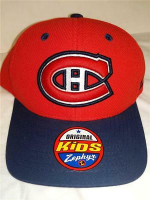 big sale c520b 067b0 New Montreal Canadians Youth Kids Size OSFA Red Blue Snapback Cap Hat