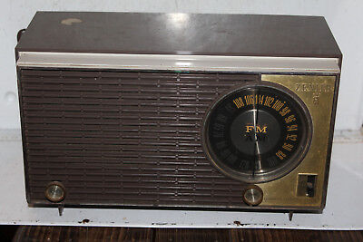 Vintage Zenith Automatic Frequency Control Radio Rare Plastic FM AM