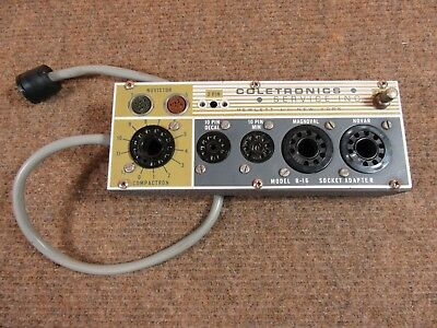 Coletronics B-16 Tube Tester Upgrade Adaptor ~ Use With Any Tube Tester