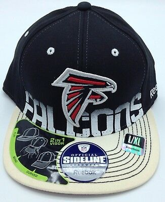 4826b00afe4 NFL Atlanta Falcons Reebok Adult Structured 2-In-1 Visor Fitted Cap Hat NEW