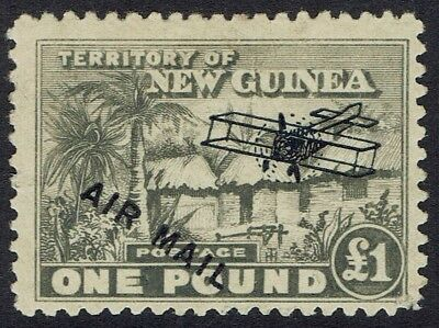 New Guinea 1931 Hut Airmail 1 Pound Top Value