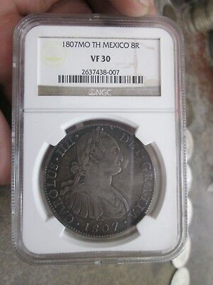 1807 Mexico 8 Reales Silver Coin VF30 No Reserve