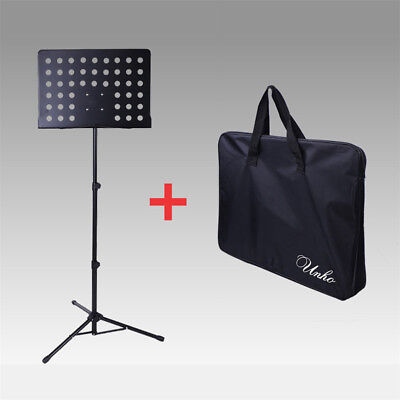 Black Orchestral Conductor Sheet Music Tripod Stand Foldable Adjustable 80-145cm