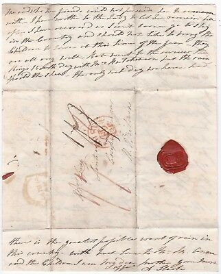 1810 Chatty Family Letter Dublin Red Mermaid Pmk To Mrs Gray Lintrose Coupar A