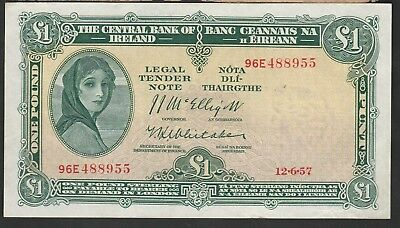1 Pound from Ireland 1957 XF