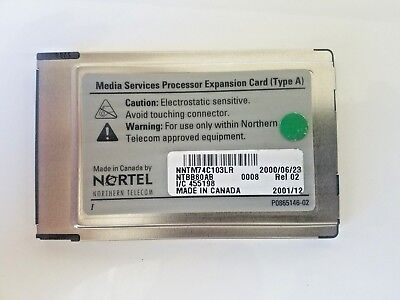 Nortel Media Services Processor Expansion Card MS PEC (NTBB80AB) NAM UPGRADE 8ch