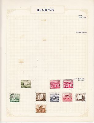 HUNGARY 1953 On Album Page Mostly VFU Items(a) removed for Shipping