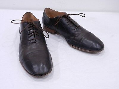MAISON MARTIM MARGIELA Mens 41 8 Brown Leather Cap Toe Oxfords MADE IN ITALY