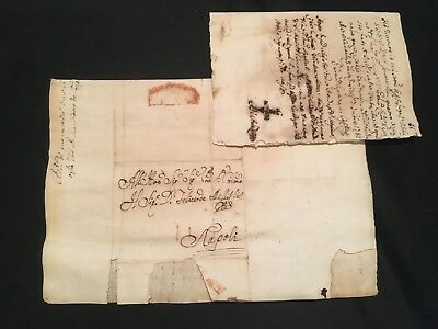 Antique Letter With A Note 1782