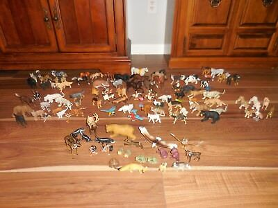 108 Plastic Animal Toys Lot Safari Ltd Mojo Bullyland Procon COLLECTA AAA CE