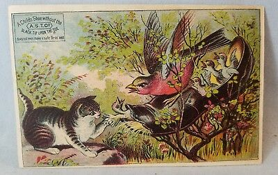 Late 1800's Trade Card A.S.T.Co. Black Tips For Shoes NO Reserve