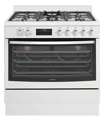 Westinghouse 90cm Dual Fuel Freestanding Oven/Stove WFE914SB