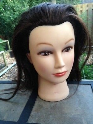 Student Cosmetology Mannequin Head Display 100% Human Hair - Brown