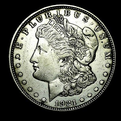 1921 D ~**ABOUT UNCIRCULATED AU**~ Silver Morgan Dollar Rare US Old Coin! #L35