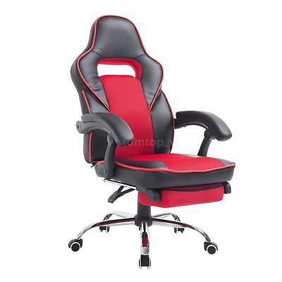 High Back Racing Style Ergonomic Gaming Chair With Retractable Footrest - I6P9