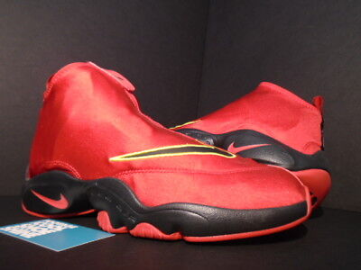 newest 69008 4c8fe Nike Air ZOOM FLIGHT THE GLOVE GARY PAYTON MIAMI HEAT RED BLACK GREY YELLOW  8.5
